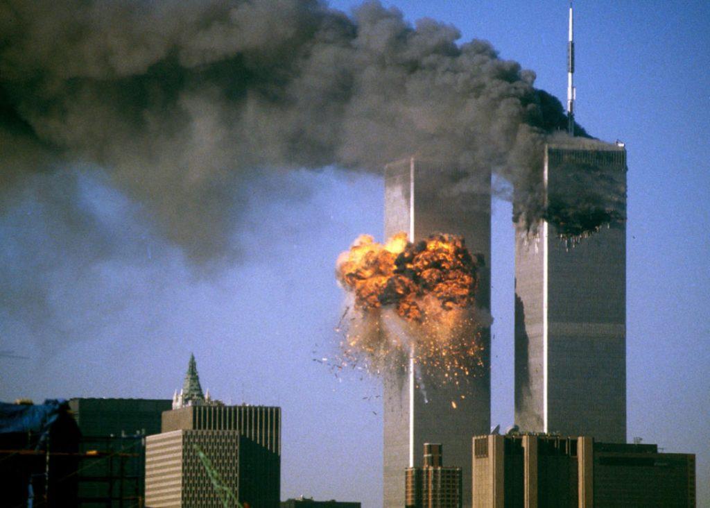 L'explosion de la tour sud du World Trade Center. reuters
