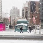 Premiers flocons de l'année à New York