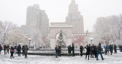 Premiers flocons de l'hiver à New York !